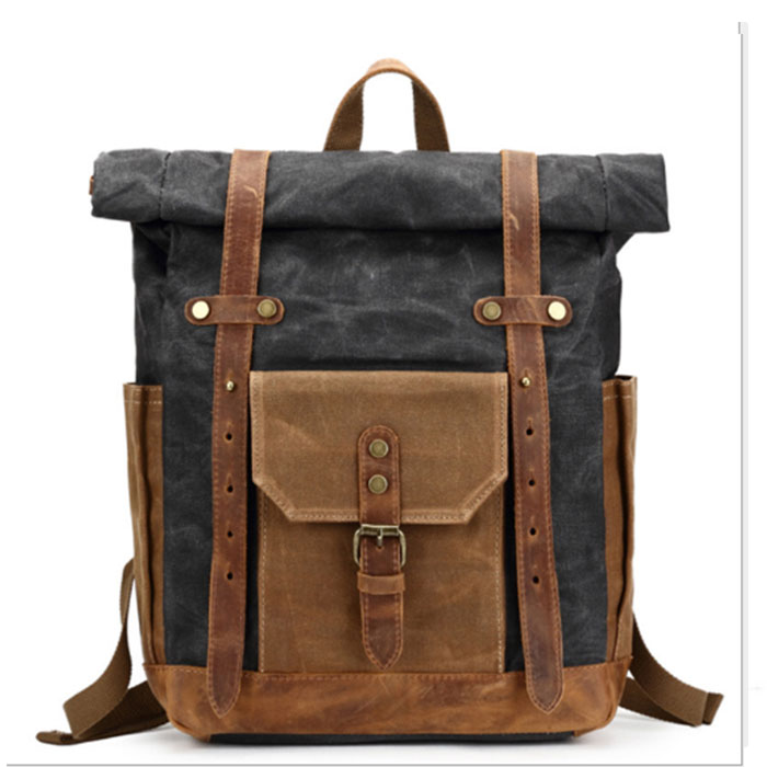Retro Men Male canvas College School Student Backpack Casual Rucksacks Travel Bag Laptop bags women bags grey/army green/brown canvas splicing backpack men retro trendy casual laptop bag women durable casual school bag stylish schoolbag