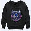 Новая коллекция весна 100% хлопок свитер вышитые тигр детская одежда мультфильм Толстовки дети осень 2017 топы футболки