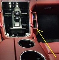 الأحمر الداخلية مقعد السيارة التماس صندوق تخزين حامل 1 قطعة لبورش باناميرا 2017 2018 الجانب الأيمن الركاب|تصميم كروم|السيارات والدراجات النارية -