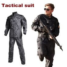 купить Military Uniform Shirt + Pants Outdoor Airsoft Paintball Multicam Tactical Ghillie Suit Camouflage Army Combat Hunting Clothes в интернет-магазине