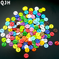Wholesale 200pcs Multi 9mm Round Resin Mini Tiny Buttons Craft Sewing Accessories Embellishments BUTTON Scrapbooking DIY Tools
