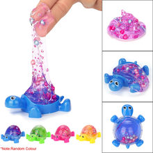 Novelty Tortoise Crysta Jelly Toys Soft Slime Scented Stress Relief Toy Sludge Toys Antistress Toys For Children Kids(China)