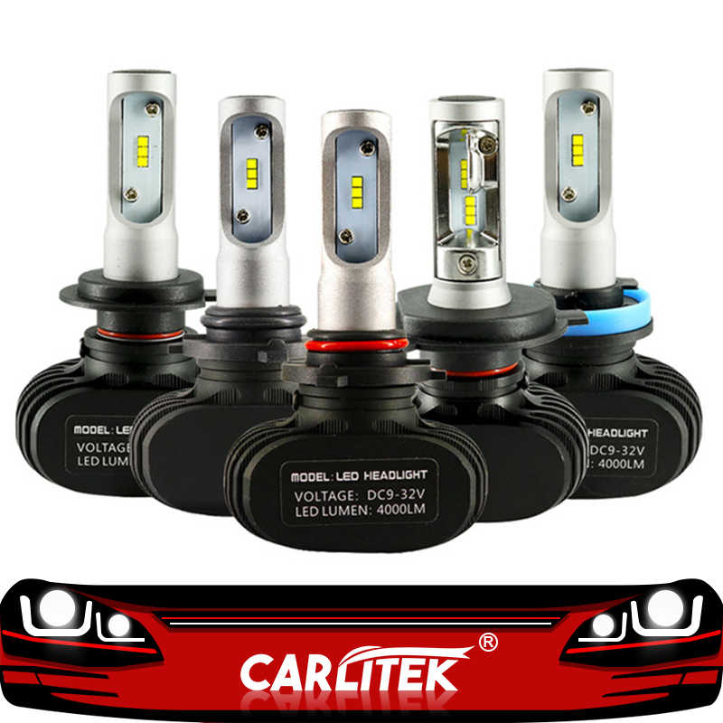 CARLitek N1 12V 24V H7 H4 Led Bulbs Diodes Automobile 50W 8000LM H8 H9 HB3 HB4 H1 H11 Led Car Headlight Fog Light 6000K Auto