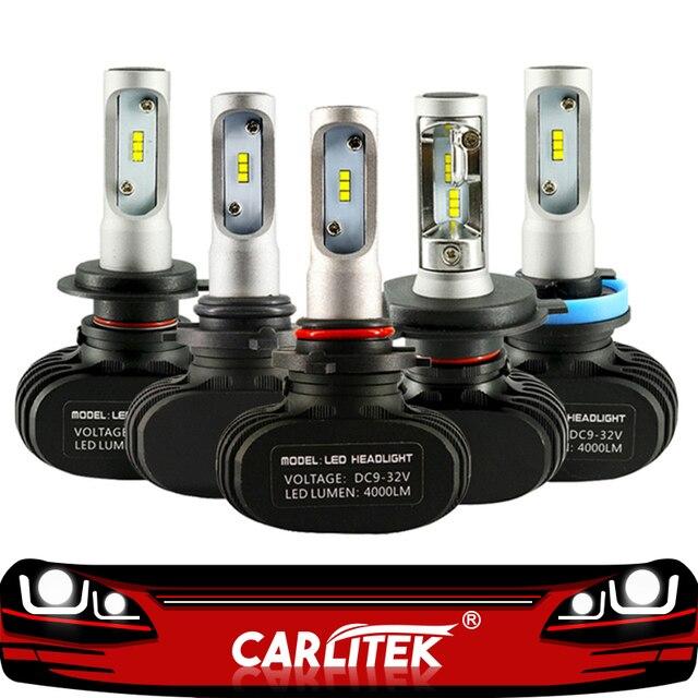 CARLitek N1 12 V H4 H7 bombillas Led diodos automóviles 50 W 8000LM Auto H8 H9 H1 H11 HB3 HB4 led coche de conducción faros antiniebla luces led para auto