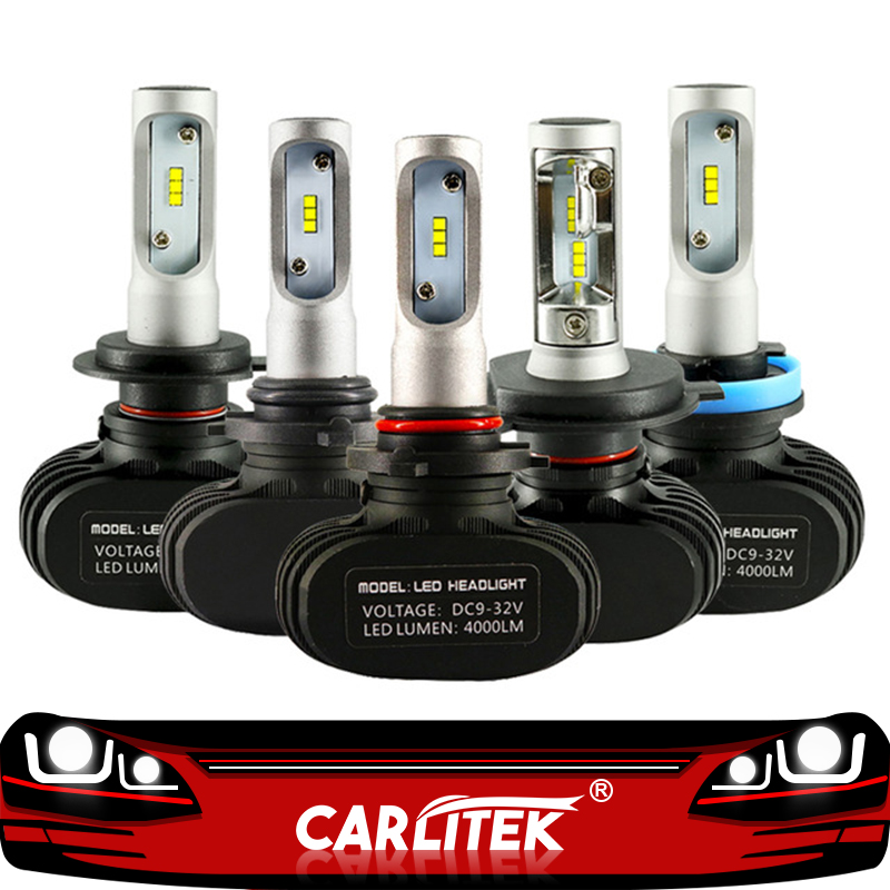 CARLitek N1 12V 24V H7 H4 Led Bulbs Diodes Automobile 50W 8000LM H8 H9 HB3 HB4 H1 H11 Led Car Headlight Fog Light 6000K Auto