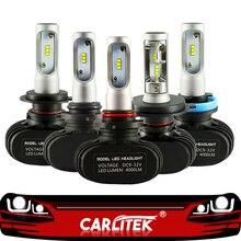 CARLitek N1 12V 24V H7 H4 Led ampuller diyot otomobil 50W 8000LM H8 H9 HB3 HB4 H1 h11 Led araba ön far sis lambası 6000K otomatik