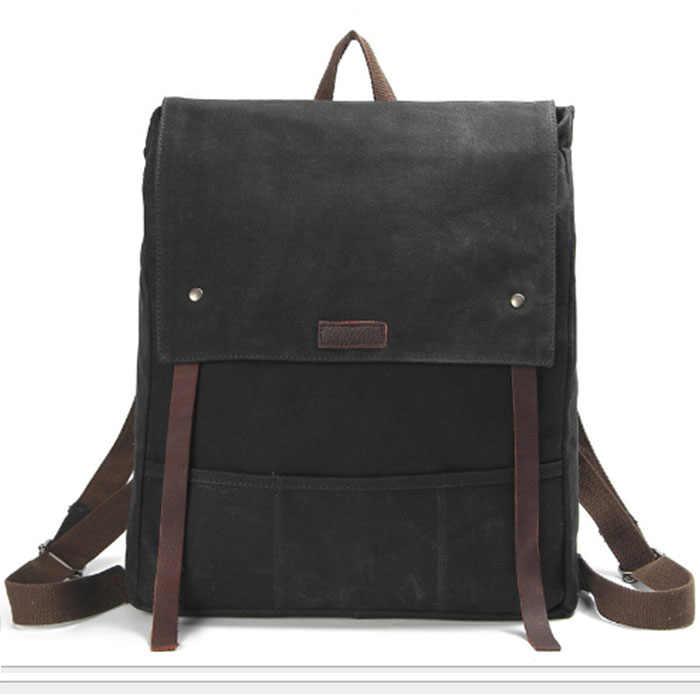Мужской холщовый Рюкзак Винтажный модный рюкзак большой емкости путешествия Mochila ноутбук Рюкзак Студенческая школьная сумка хаки/серый/черный