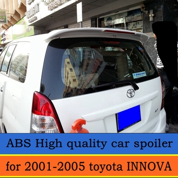 use for 2001-2005 toyota INNOVA spoiler High Quality ABS Material Car Rear Wing Primer Color spoiler for crown