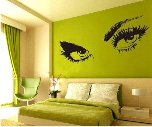 Vinyl Removable Wall Stickers Audrey Hepburn\'S Eyes Mural Decals ...