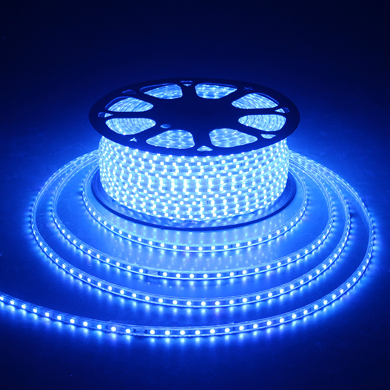 LAIMAIK LED Strip light waterproof rgb strip led ribbon 5050 Led tape 220 flexible led strip 220v 60Leds/M lighting with EU Plug