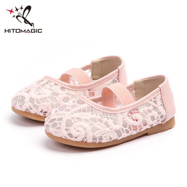 HITOMAGIC Girls Flat Shoes Children Kids Toddler Casual Shoes Princess Mesh  Soft Breathable Baby Summer Footwear White Flower c5e451a6f764