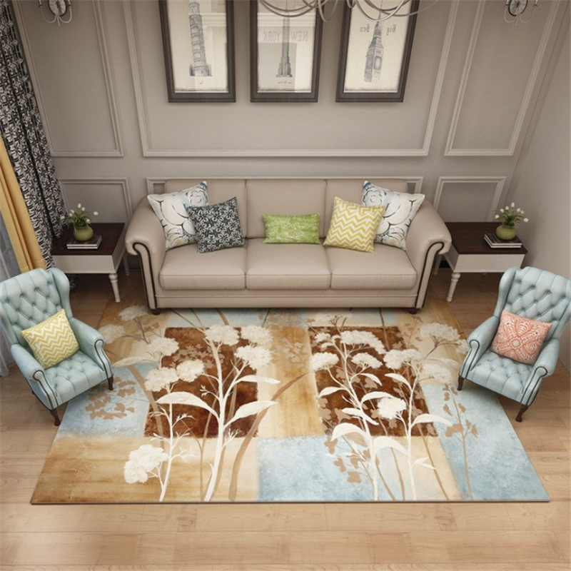 2MX3M Big Parlor Creative H Pastoral Style Modern Soft Carpet For Living Room Bedroom Kid Play Delicate Rug Home Floor Fashion