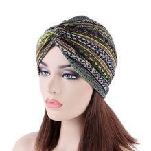 Nowe luksusowe miękkie jersey Turban elastyczny Turban kapelusz krzyż Twist Cap Chemo czapki miękkie opaski Headwrap muzułmaninem nakrycia głowy