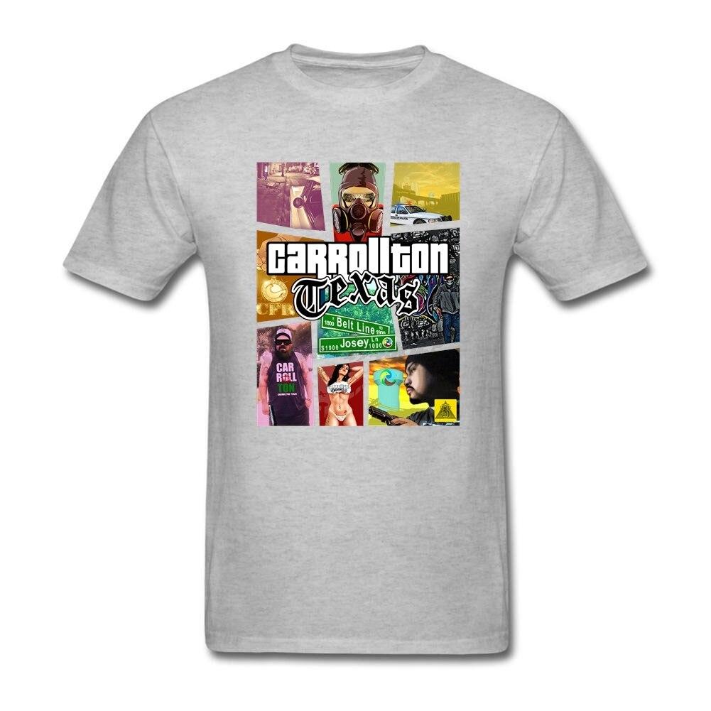 Design your own t-shirt for cheap price - Gta Carrollton Texas Adult Man Cheap Tshirt Humor Men S New Year Gift T Shirt Round Collar