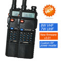 2X BaoFeng UV-5R Walkie Talkie UV-8HX Dual Band UV5R CB Radio 128CH VOX Flashlight Dual Display FM Transceiver for Hunting Radio