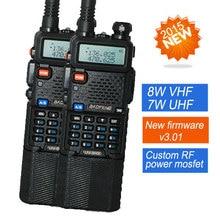 2X BaoFeng УФ-5R Walkie Talkie UV-8HX Двухдиапазонный UV5R CB радио 128CH VOX Фонарик Двойной Дисплей FM Трансивер для Охоты радио
