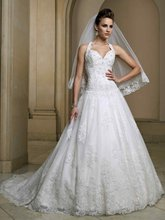 11-20 Beautiful Hater Sweerheart Ruffle A-line Beadeds Lace Wedding Dresses