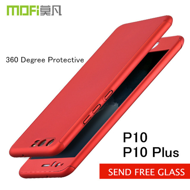 buy online c918f 7bba0 US $10.99  Huawei P10 case huawei P10 Plus case frosted cover 360 degree  protective Full Body back cover tempered glass for Huawei p10 plus-in  Fitted ...