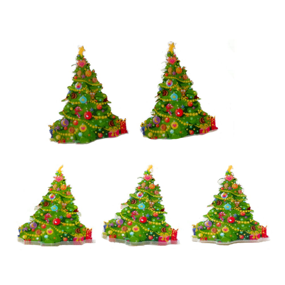 20Pcs Rainbow Christmas Tree Planar Resin Cabochon Flat Back Craft DIY Kids Girls Best GIFT