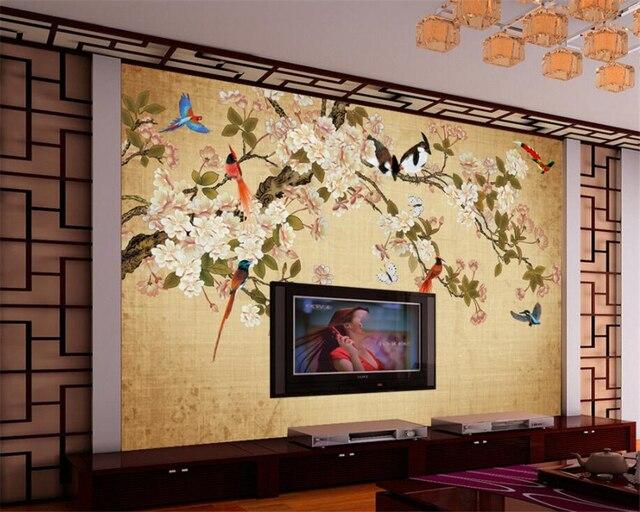 beibehang benutzerdefinierte tapete chinesischen handgemalten, Wohnzimmer