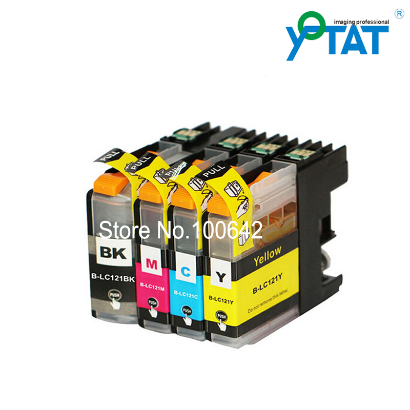 1 set Compatible ink cartridge LC121 for Brother DCP-J552DW DCP-J752DW DCP-J132W DCP-J152W DCP-J172W MFC-J470DW/J650DW/J870DW samsung rs 552 nruasl