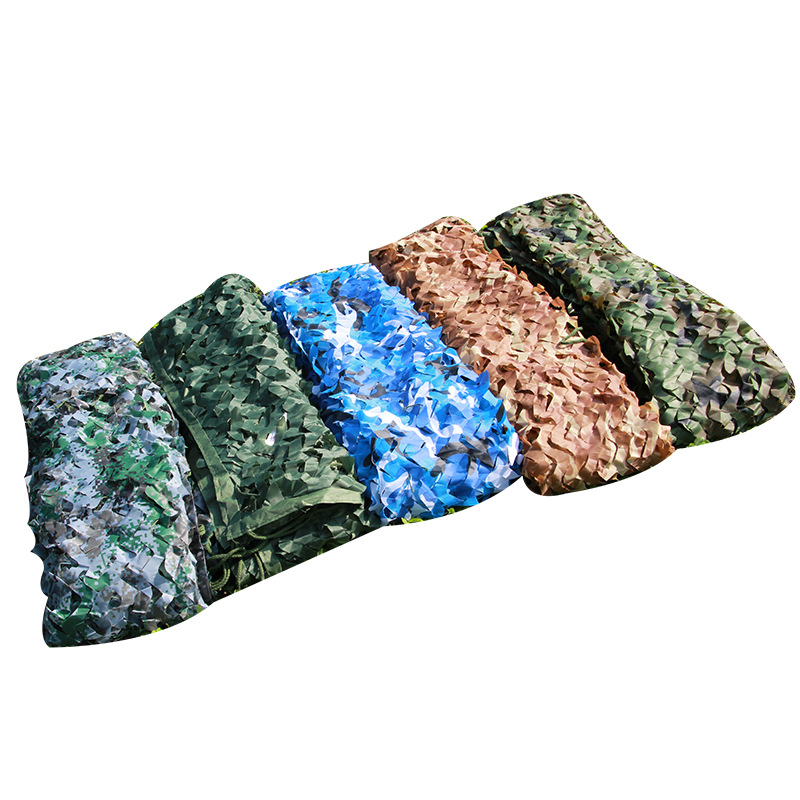 2.5x10M Jungle Camo Hunting Shade Sails Outdoor Army Camouflage Awning Tent Woodland Hide Mesh Shade Net Camping Sun Shelter