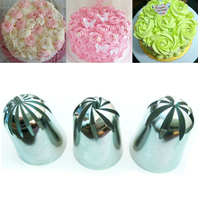 3 PCS Large Cream Nozzle Pastry Stainless Steel Icing Piping Tips Set Cakes Decorating Baking tools