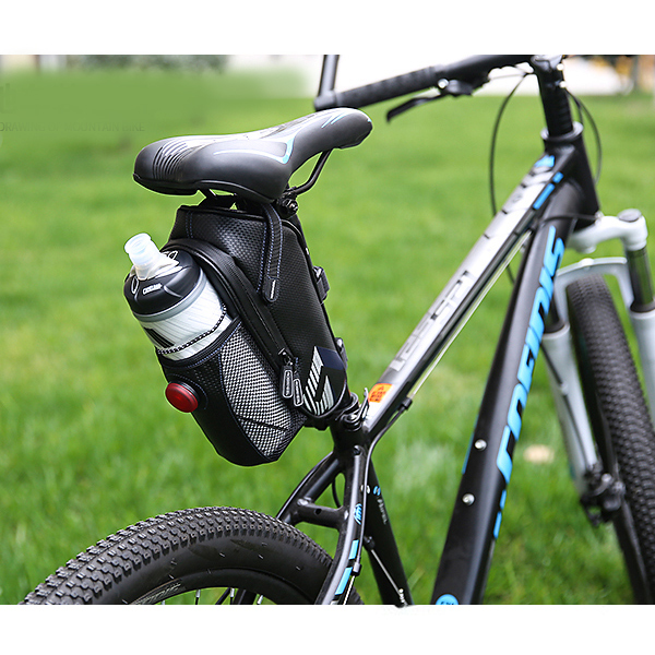 ROSWHEEL Bicycle Bag Rainproof Saddle Bag Outdoor Cycling Mountain Bike Back Seat Tail Pouch Maintenance Tool Bags with Tailligh