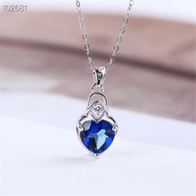 gemstone fine jewelry factory wholesale SGARIT brand classic luxury 925 sterling silver natural blue topaz pendant necklace цена