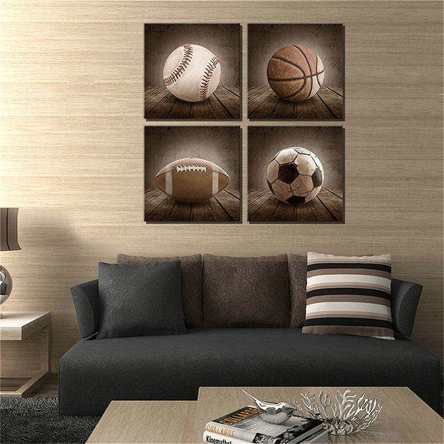 Vintage Soccer Sport Poster Wall Art Canvas Print Painting For Bedroom Wall  Decor Retro Picture Football