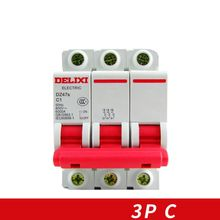 Miniature Circuit breaker Air switch  DZ47S DELIXI MCB 3Pole