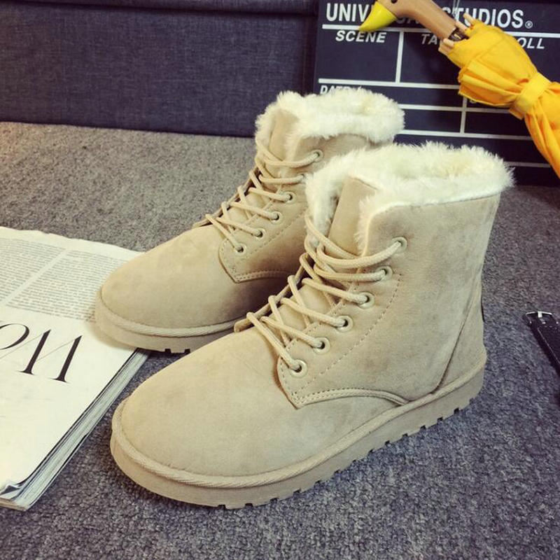 4 Terciopelo 2016 El Zapatos Más 2 Otoño Invierno 1 Nieve 3 Las Aplastado Mujer 5 Y Con De Botas Size007 Cortas Sandalias Engrosadas Estudiantes La qR7fwRnEr