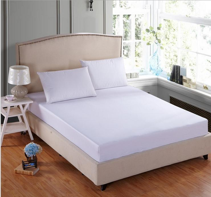 Exceptional 100% Cotton White Bed Sheet,Twin / Full / Queen / King Fitted Sheet Bed  Linen, Bed Mattress Cover, 20colors Bed Cover Bedspreads In Sheet From Home  U0026 Garden ...