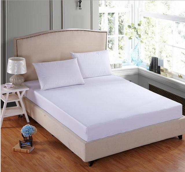 100 Cotton White Bed Sheet Twin Full Queen King Ed Linen Mattress Cover 20colors Bedspreads