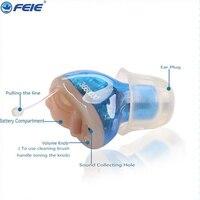 Feie cheap wholesale hearing aids mini digital CIC ear amplifier hearing aid amplifier mini ear S 10A