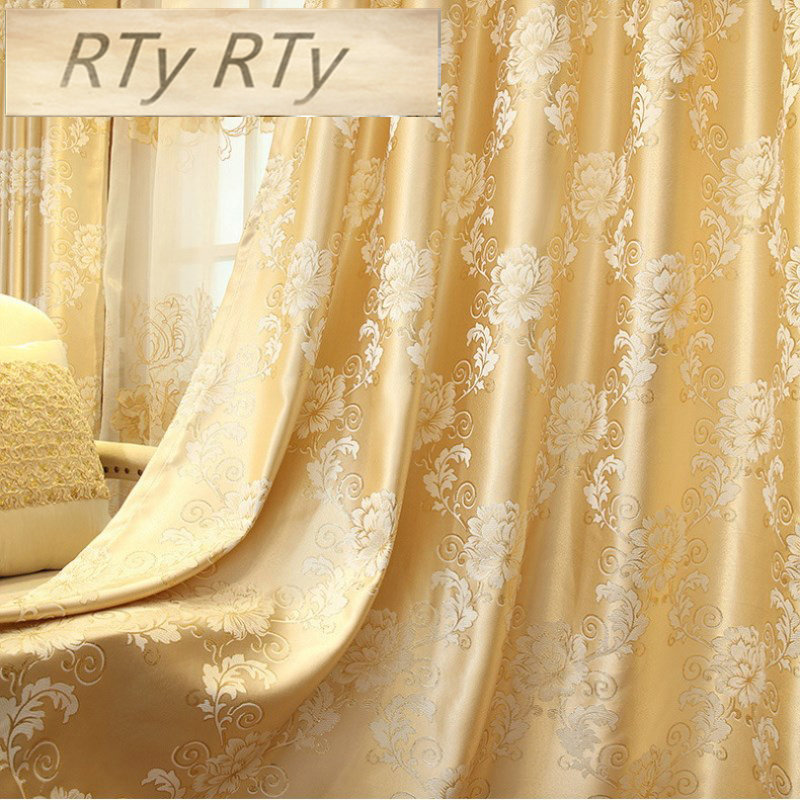 Luxury Curtains Set Jacquard Tulle Curtains For Living Room Cloth Fabric Blackout Curtains For Bedroom Home Decor Drapes TM08#40