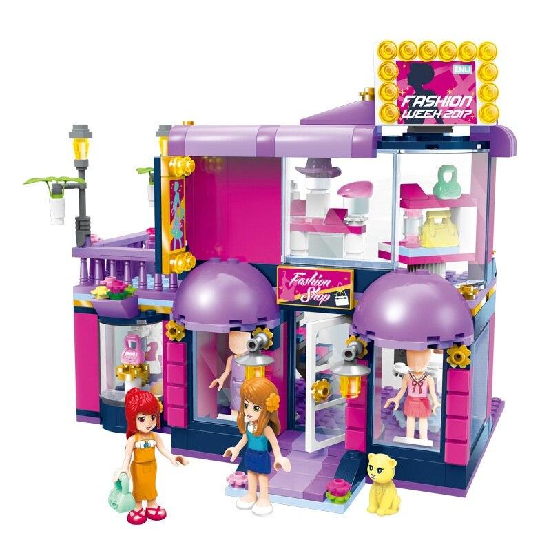 Galleria fotografica ENLIGHTEN City Girls town fashion shop Building Blocks Sets Bricks Model Kids Gift Princess Toys Compatible <font><b>Legoings</b></font> <font><b>Friends</b></font>