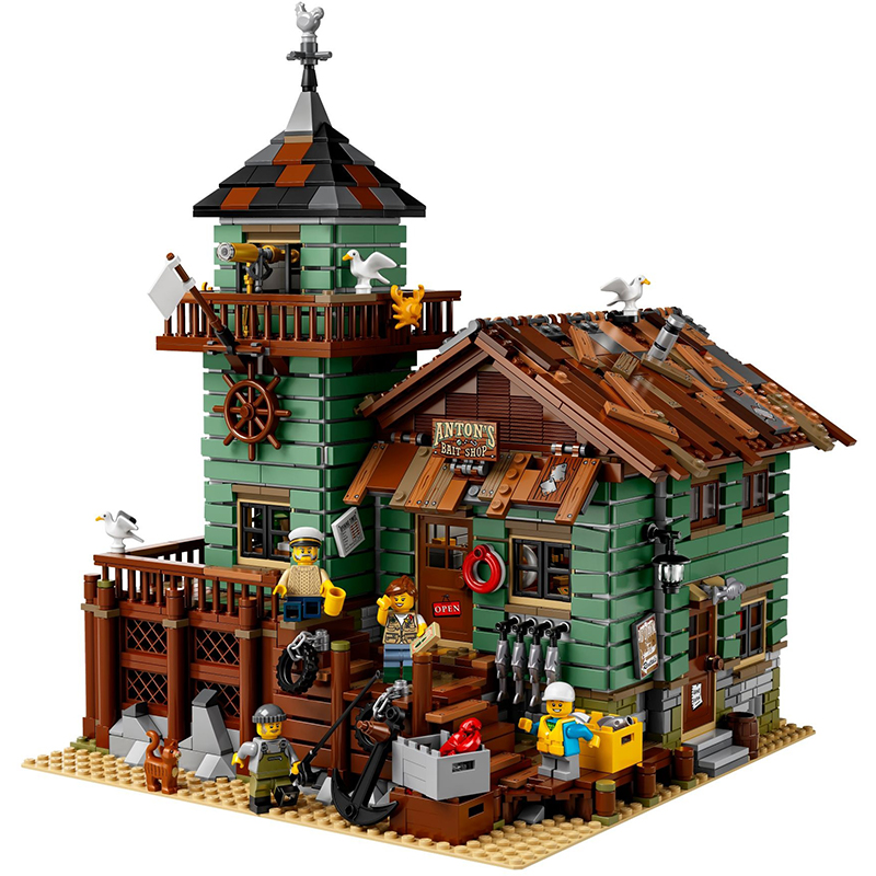 Lepin 16050 Old Fishing Store building bricks blocks Toys for children boys Game Model Gift Compatible with Decool Bela 21310 dayan gem vi cube speed puzzle magic cubes educational game toys gift for children kids grownups