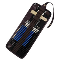 None 32PCS Complete Drawing Sketching Pencils Set Includes Graphite Charcoal Rubber Sharpener Storage Case For Artist