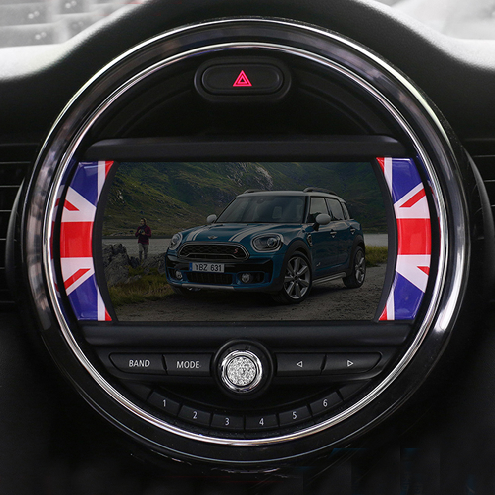 Navigator Screen Side Crystal Epoxy Sticker Decals For BMW MINI Cooper S JCW One F54 Clubman F55 F56 F60 Countryman Car Styling