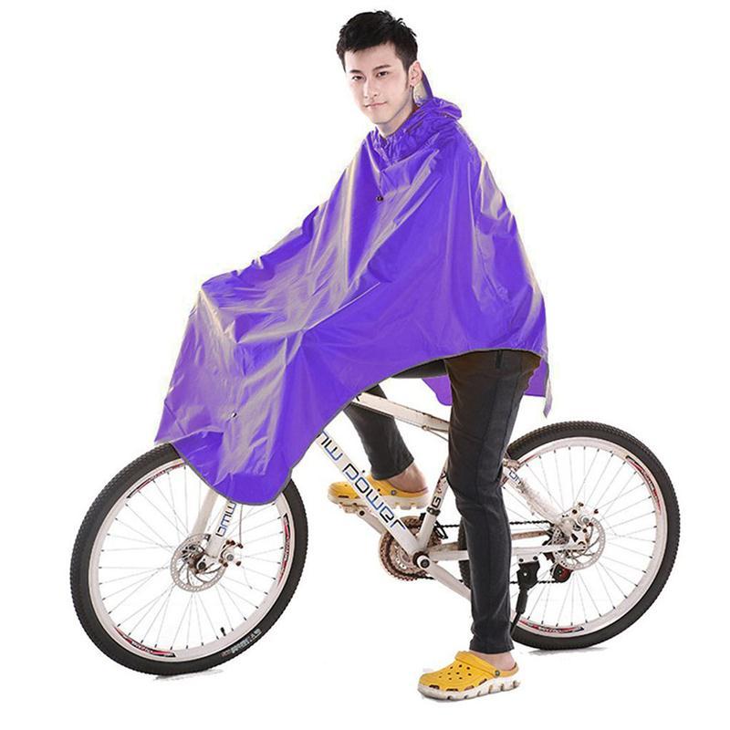 Umile Bici Della Bicicletta Impermeabile Impermeabile Bicicletta Poncho Cappuccio Antipioggia Impermeabile Pioggia Poncho Impermeabile Adulto Pioggia Donna Uomo Parapioggia