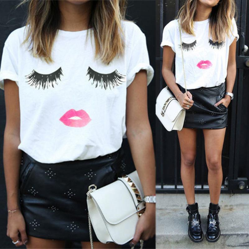 f1eb0080b New Arrival Simple Design Summer Women s Casual T Shirt tshirt 3D ...