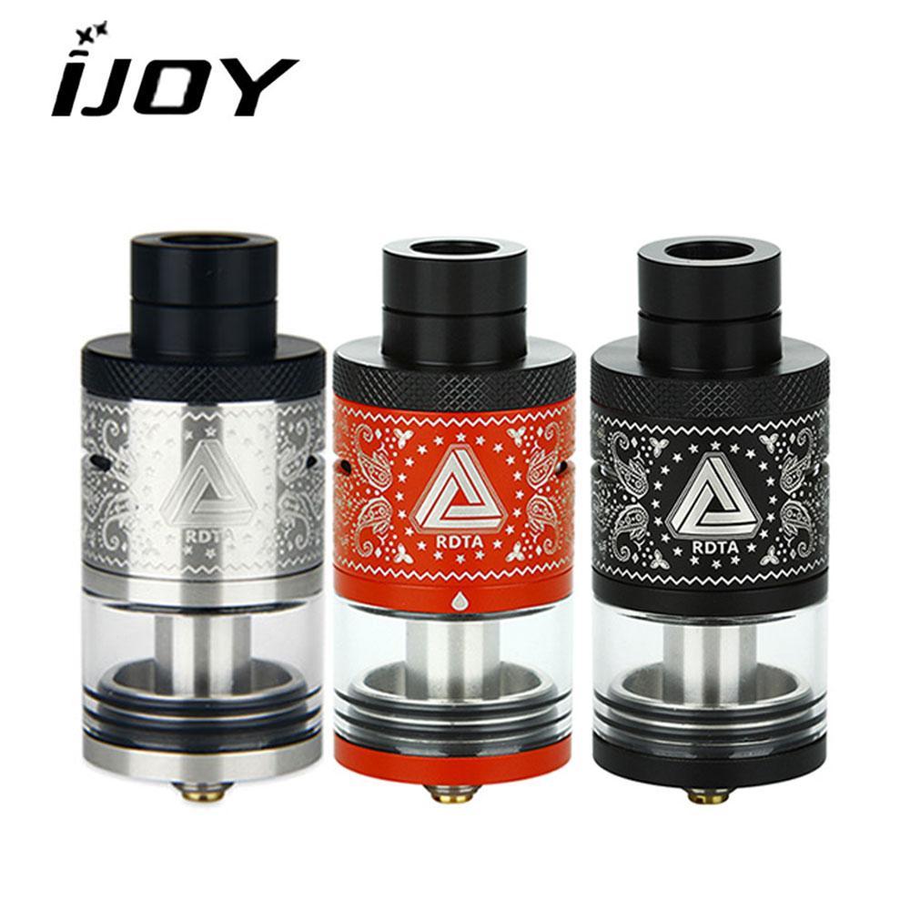 Originale Ijoy Illimitata RDTA Plus Serbatoio Atomizzatore con 6.3 ml Capacità 25mm FAI DA TE Scatola Bobina e sigaretta per Vape Mod VS Avocado 24