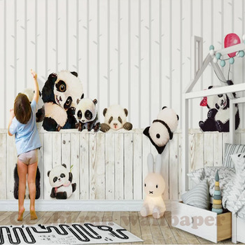 Custom 3D Mural Wallpaper children Room wall covering Wallpaper 3D Cartoon Lovely  Panda 3D kid Photo Wallpaper Home Decor