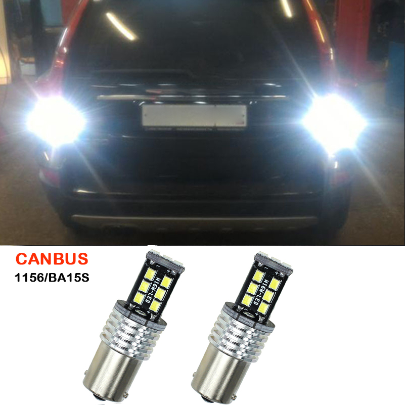 2X Canbus P21W 1156 BA15S Car LED Reverse Lights 15SMD 2835 Backup Tail Bulb For Volvo XC60 XC90 S80 V70 S40 V40 V50 C30 850 940 машина пламенный мотор volvo v70 пожарная охрана 870189