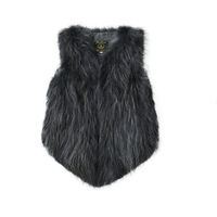 Autumn Winter Coat Women Clothes 2019 Real Fur Coat Raccoon Dog Fur Vest Women Korean Short Slim Fit Jacket Abrigo Mujer ZT469
