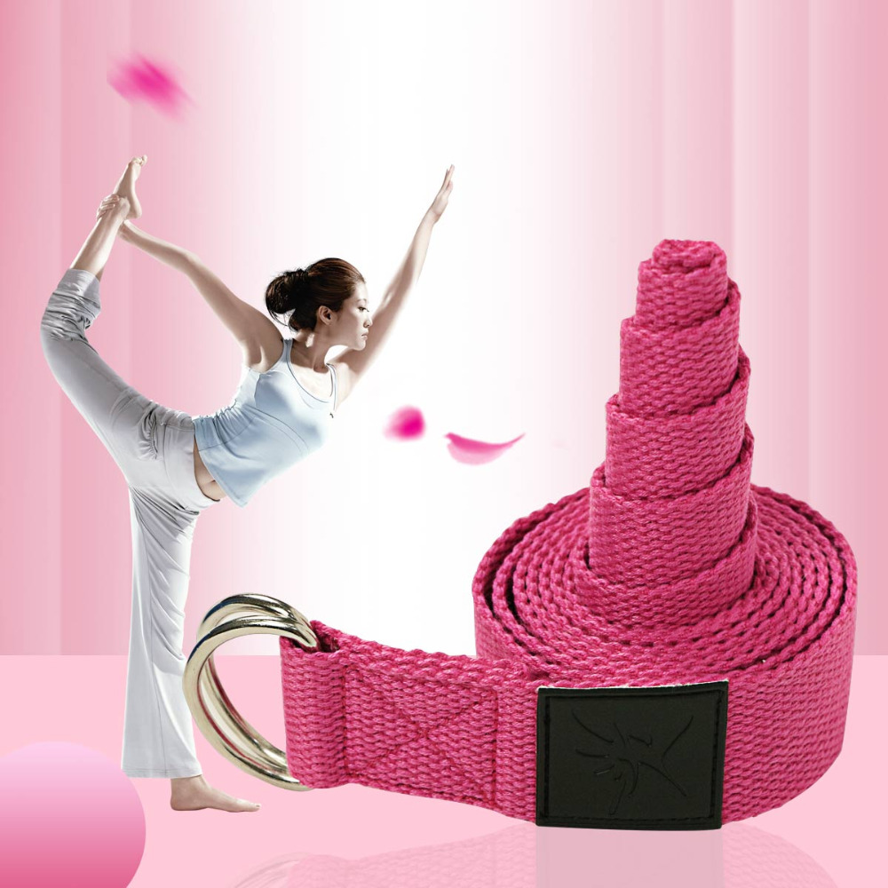 Yoga Belt Pilates Stretching Band Belt Yoga StrapFitness Bodybuilding  Accessory Workout Exercise Belt Band