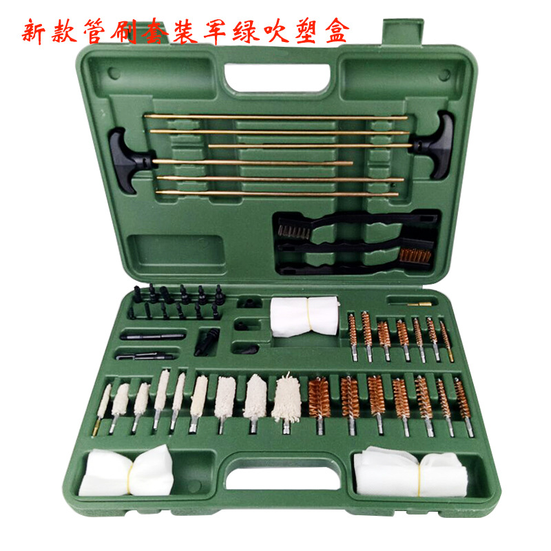 New copper brush pipe dredge wire brush full set of cleaning tools sleeve set straw cleaning brush best selling 2018 products triangle cleaning brush