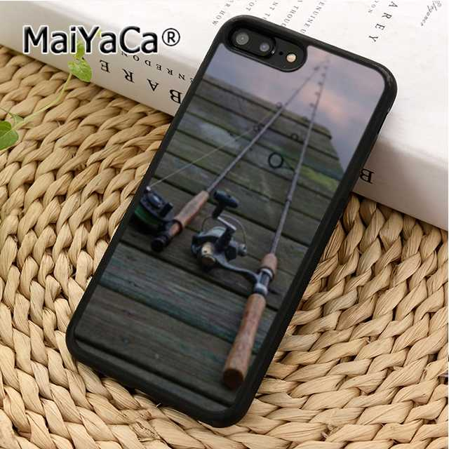 VARAS de PESCA DA CARPA MaiYaCa Phone Case Capa Para iPhone 4 5 5S SE 6 6s 7 8 X XR XS borda max Samsung Galaxy S6 S7 S8 S9 plus