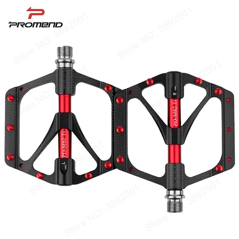 PROMEND vtt vélo pédale titane VTT pédale Ti axe axe vtt cyclisme auto-lubrifiant 3 roulement pédales ultra-légères